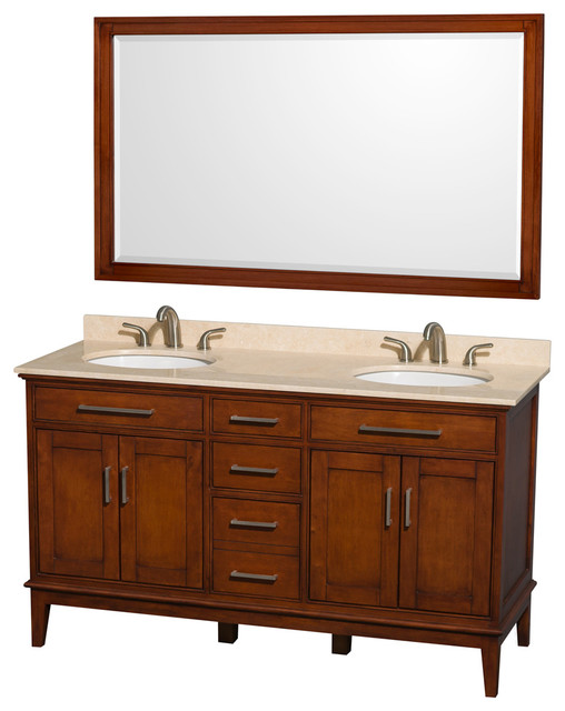 Eco friendly double sink vanity transitional bathroom - Eco friendly bathroom sinks ...