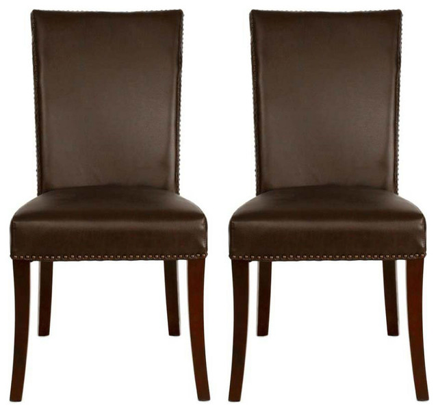Havana Kai Leather Dining Chairs Pair Contemporary Dining Chairs