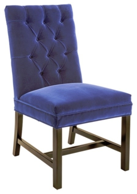 Elegant Bright Dining Chair With Espresso Finish