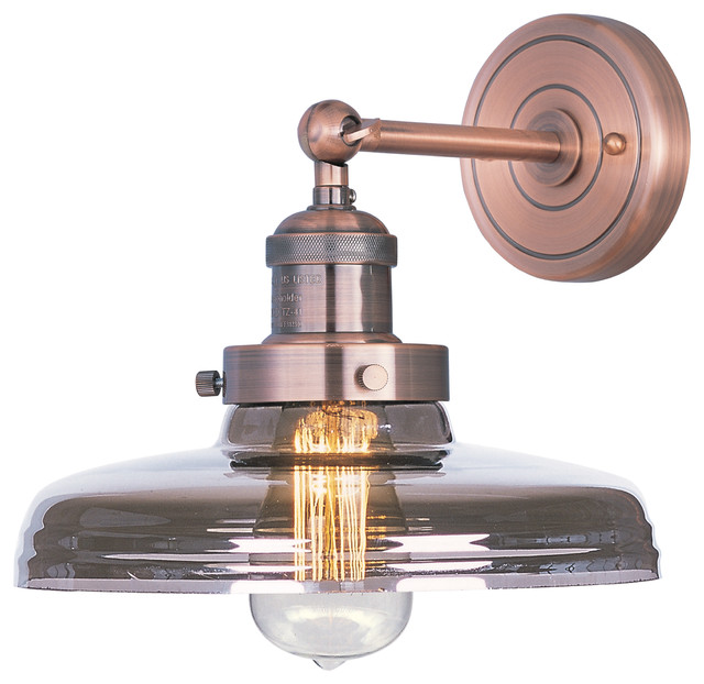 Maxim Lighting 25067MSKACP/BUI Mini Hi-Bay Antique Copper Wall Sconce industrial-wall-sconces