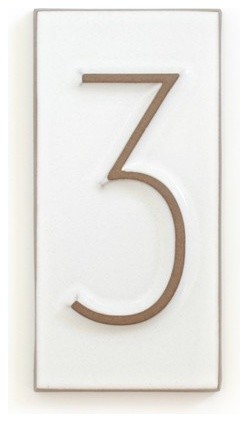 House Number Neutra 3 Contemporary House Numbers By