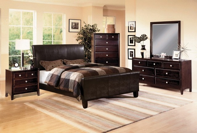 crown mark 4 pc tomas dark espresso queen bedroom set w