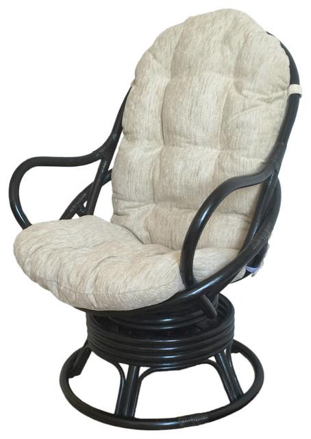 Littlesmorningscom Rattan Swivel Rocker Chair