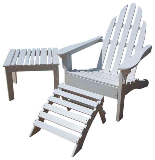 Adirondack Chair And Ottoman Set Fire Engine Red Adirondack Chairs By Pr