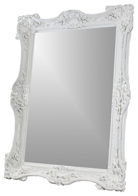 white baroque 7 39 mirror traditional wall mirrors by