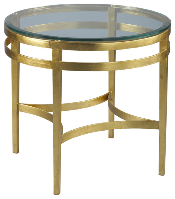 Lillian August Leila Gold Side Table La99313 01 Contemporary Side Tables End Tables By