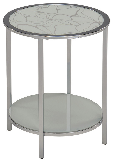 Olivia Accent Table In White Modern Bar Stools And