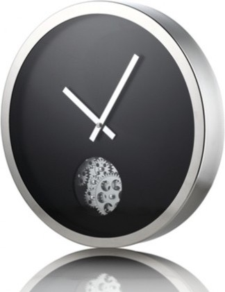 protis stainless steel wall clock modern clocks brisbane by nova deko. Black Bedroom Furniture Sets. Home Design Ideas