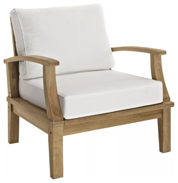 Marina Outdoor Patio Teak Armchair Contemporary Outdoor Lounge Chairs