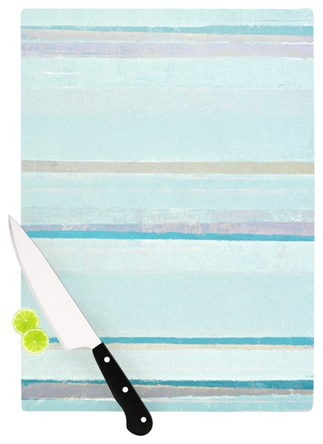 Carollynn Tice Cost Blue Aqua Cutting Board 11 5