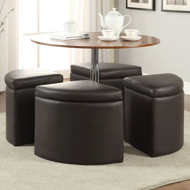 dark brown coffee table set with ottoman modern coffee. Black Bedroom Furniture Sets. Home Design Ideas