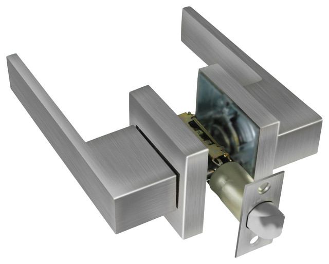 Door Lock Senna Residential Premium, Passage Function, Satin Nickel - Door Locks - by Jako Hardware