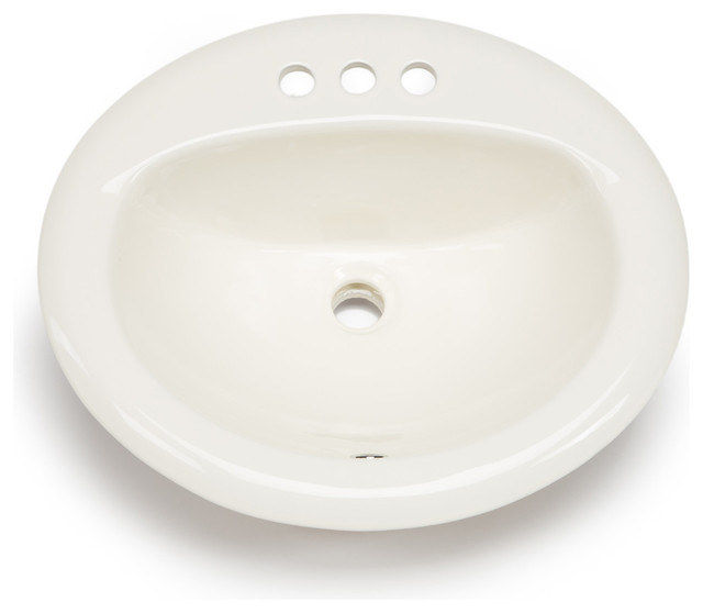 Hahn Ceramic Bathroom Large Oval Bowl Drop In Traditional Bathroom Sinks By Your Sink