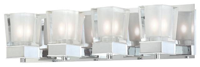 4-Light LED Wall Fixture, Polished Chrome