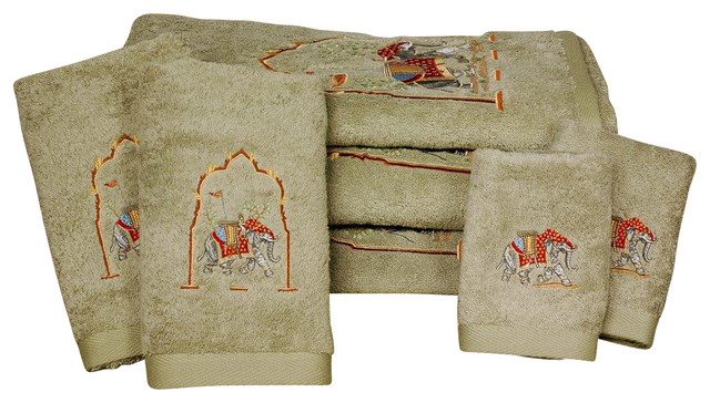 Majestic Elephant Bath Set 7 Piece Ginseng