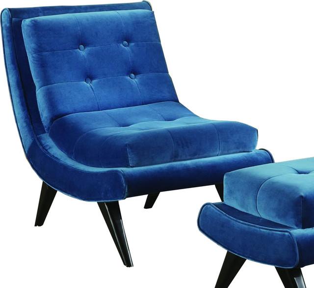 5th Avenue Accent Chair Cerulean Blue Modern