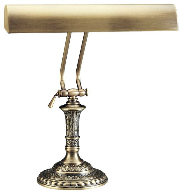 house of troy 14 antique brass traditional piano desk lamp. Black Bedroom Furniture Sets. Home Design Ideas
