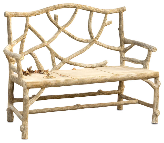 Currey And Company Faux Bois: Outdoor Benches