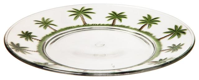 Dilligenceus Plate Set Of   Tropical Salad And Dessert
