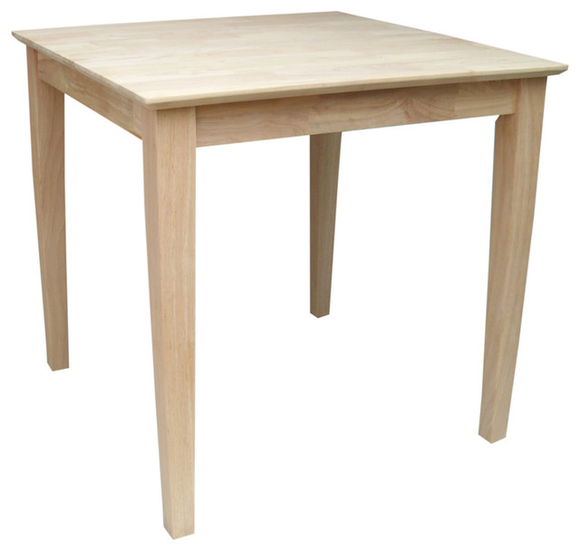 Shaker Style Parawood Square Dining Table Contemporary Dining Tables