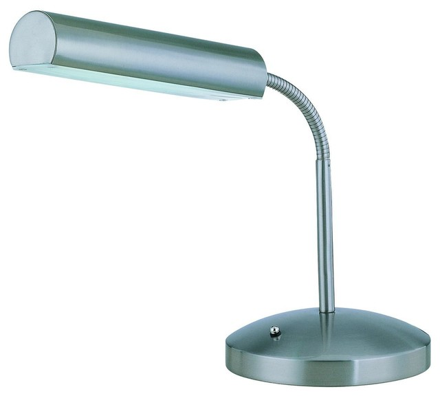 Polished Steel 1 Light Fluorescent Desk Lamp from the
