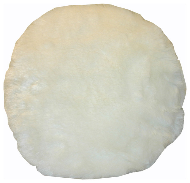 Round Faux Fur Decorative Throw Pillow - Contemporary - Scatter Cushions - by Overstock.com