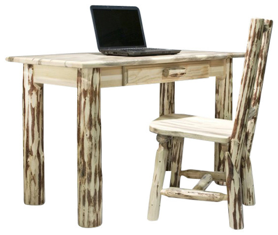 Montana Woodworks Writing Desk in Ready to Finish - Rustic - Desks And ...