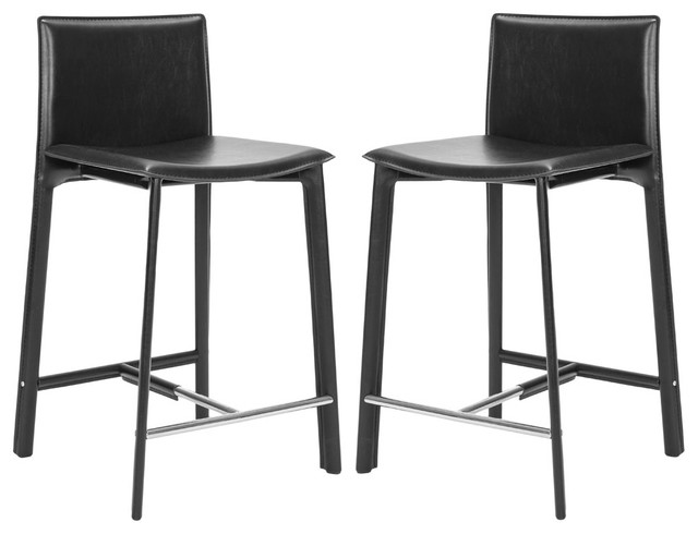 safavieh janet 24 inch counter stool in black set of 2