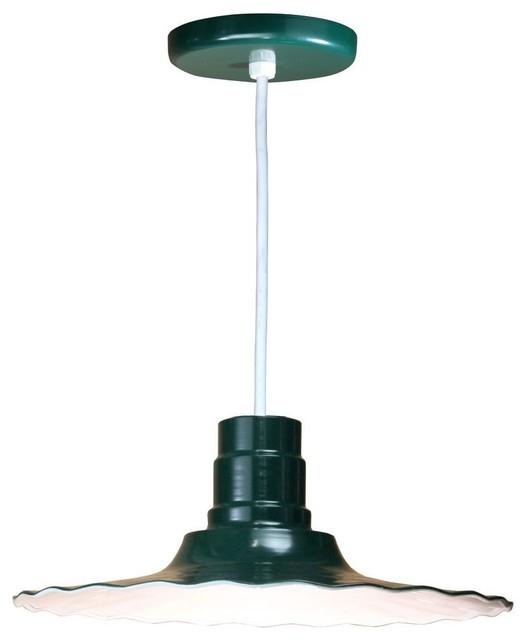 Illumine Pendants & Hanging Fixtures 1 Light Ceiling Green