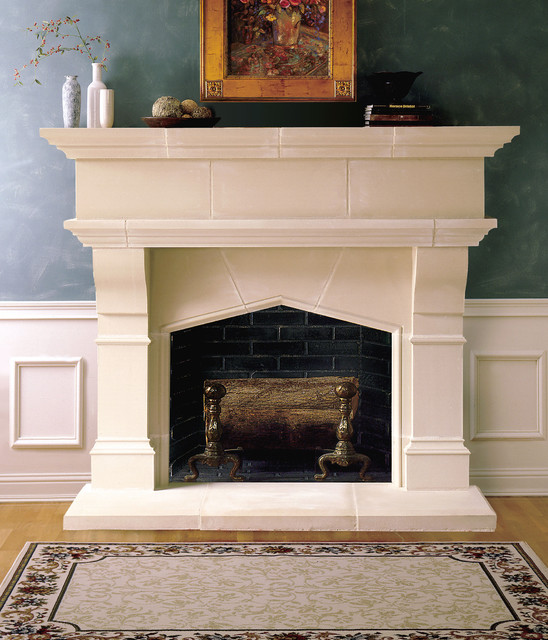 lexington cast stone fireplace mantel traditional