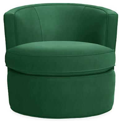 Otis Swivel Chair Emerald Modern Armchairs & Accent