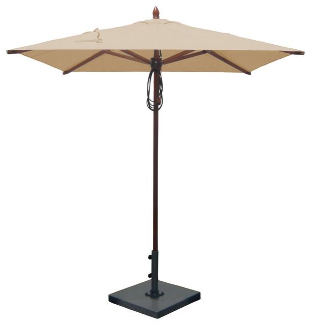 6 5 x6 5 mahogany patio umbrella contemporary