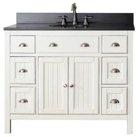Avanity Hamilton Vanity 42 Inch French White Farmhouse Bathroom Vanities And Sink Consoles