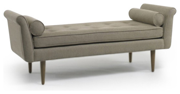 Knox Bench Modern Upholstered Benches by DwellStudio