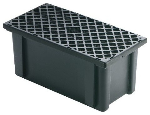 Pond Pump Filter Box Traditional Outdoor Fountain And
