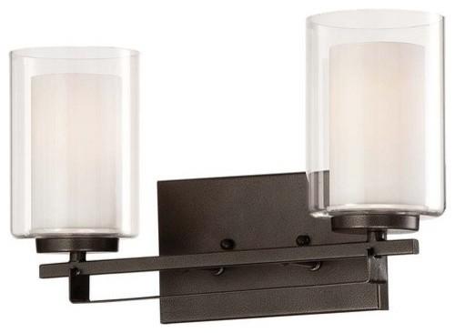 Transitional Bathroom Vanity Lights : Minka Lavery 6102-172 Parsons Studio 2 Light Bathroom Vanity Light - Transitional - Bathroom ...