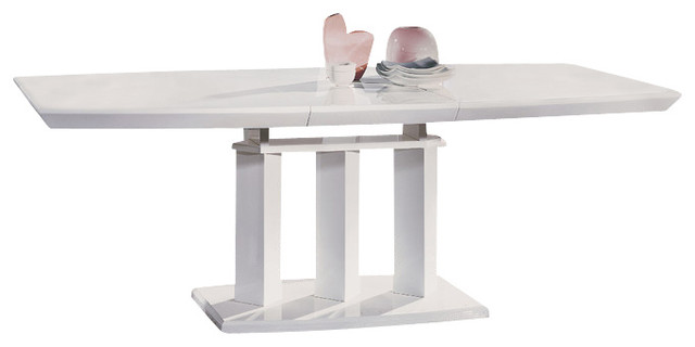 High Gloss White Dining Table Modern Dining Tables By At Home USA Inc