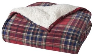 Threshold Sherpa Throw Plaid Traditional Throws By