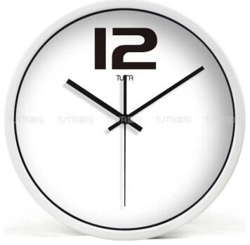 12 modern style wall clock in stainless steel tuma bz109w modern wall clocks other. Black Bedroom Furniture Sets. Home Design Ideas