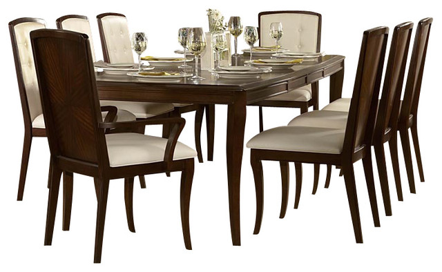 homelegance abramo 10 piece rectangular dining room set in
