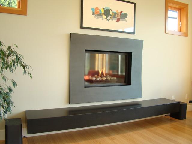 Modern Scandinavian Fireplace: Indoor Fireplaces