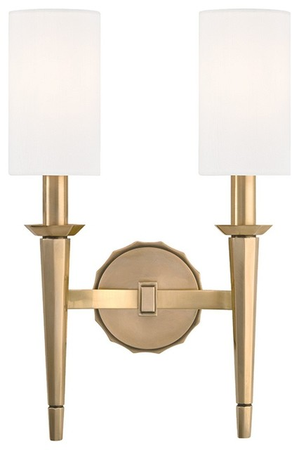 Wall Sconces Transitional : Hudson Valley Lighting Tioga Transitional Wall Sconce X-BGA-2888 - Transitional - Wall Sconces