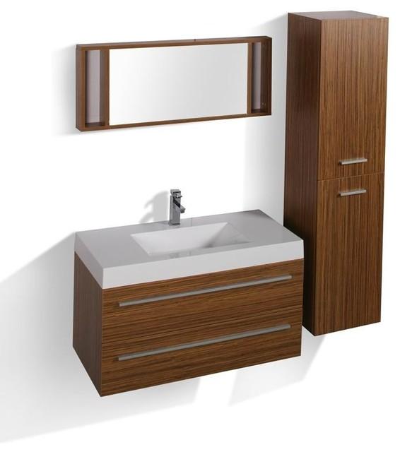 Bojano Complete Set Modern Bathroom Vanity Units Sink Cabinets London