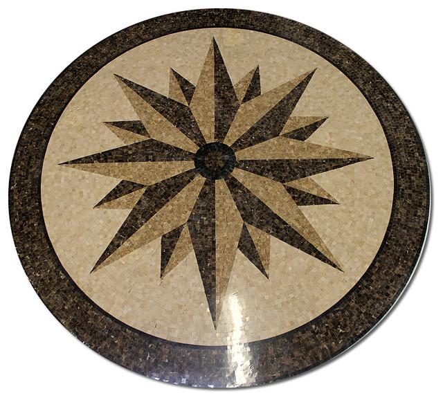 Tile Floor Inlays : Mosaic polished floor medallions tile medallion marble
