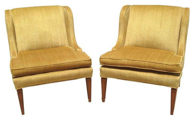 Gold Mid Century Modern Chairs A Pair 2 200 Est Retail 1 500 On Chai