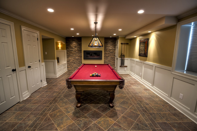 Billiards Room Traditional Philadelphia By West
