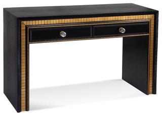 Bassett Mirror Villa Granada Console Table in Black Gold & Crystal - Contemporary - Console ...