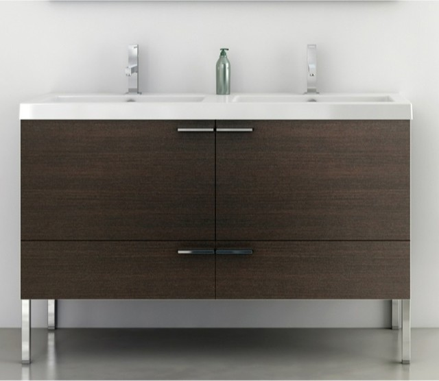 47 Inch Vanity Cabinet With Fitted Sink - Contemporary ...