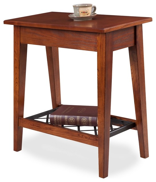 Westwood Oak Narrow Chairside Table Craftsman Console Tables By Leick Home