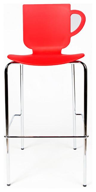 Esa Novelty Tea Cup Stool Red Contemporary Bar  : contemporary bar stools and counter stools from www.houzz.com.au size 322 x 640 jpeg 31kB
